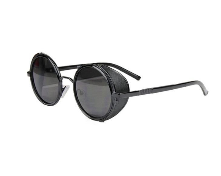 00dd2b9cb2b79 Óculos Sol Redondo Circular Steampunk Vintage Retrô Uv400 - R  70