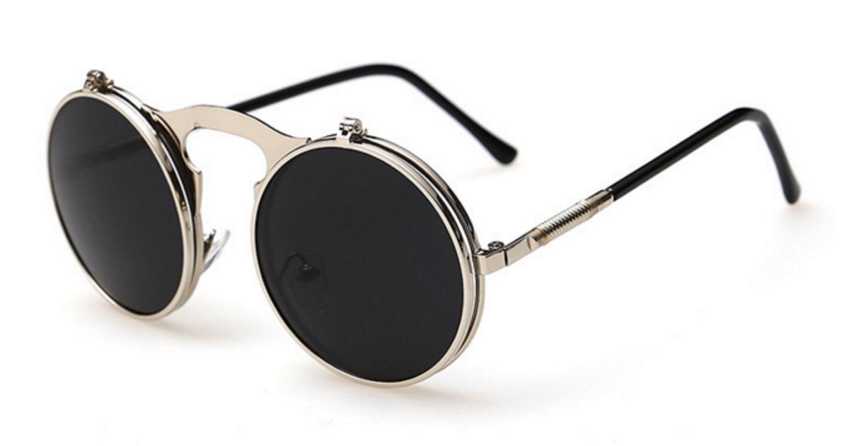 90203f505 Óculos Sol Redondo Circular Vintage Lente Dupla High Quality - R$ 69 ...