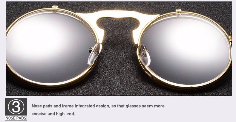 2af79664d Óculos Sol Redondo Circular Vintage Lente Dupla Steampunk - R$ 99,90 ...