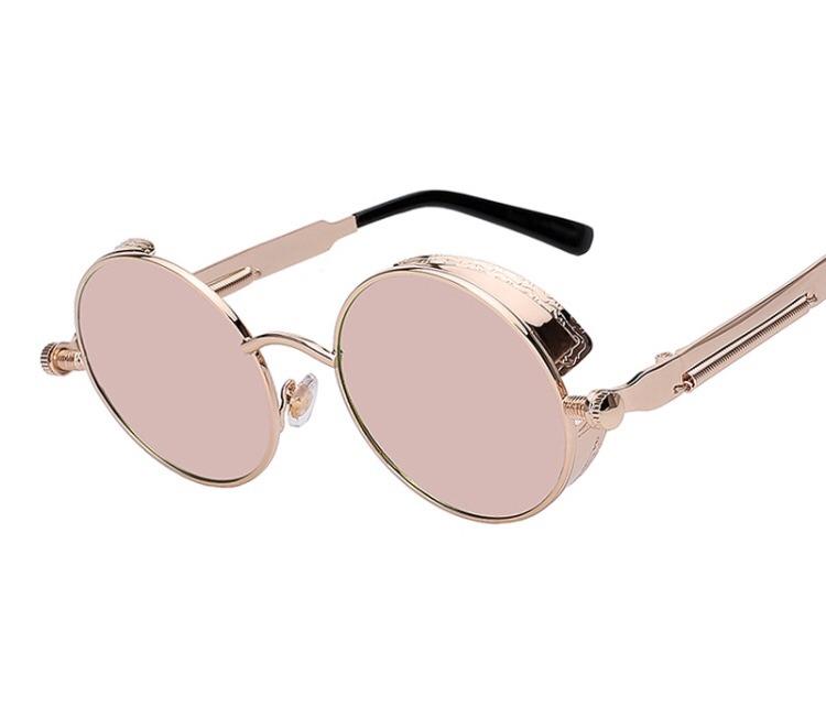 77c0141f258e0 Óculos Sol Redondo Circular Vintage Lente Rosa High Quality - R  59 ...