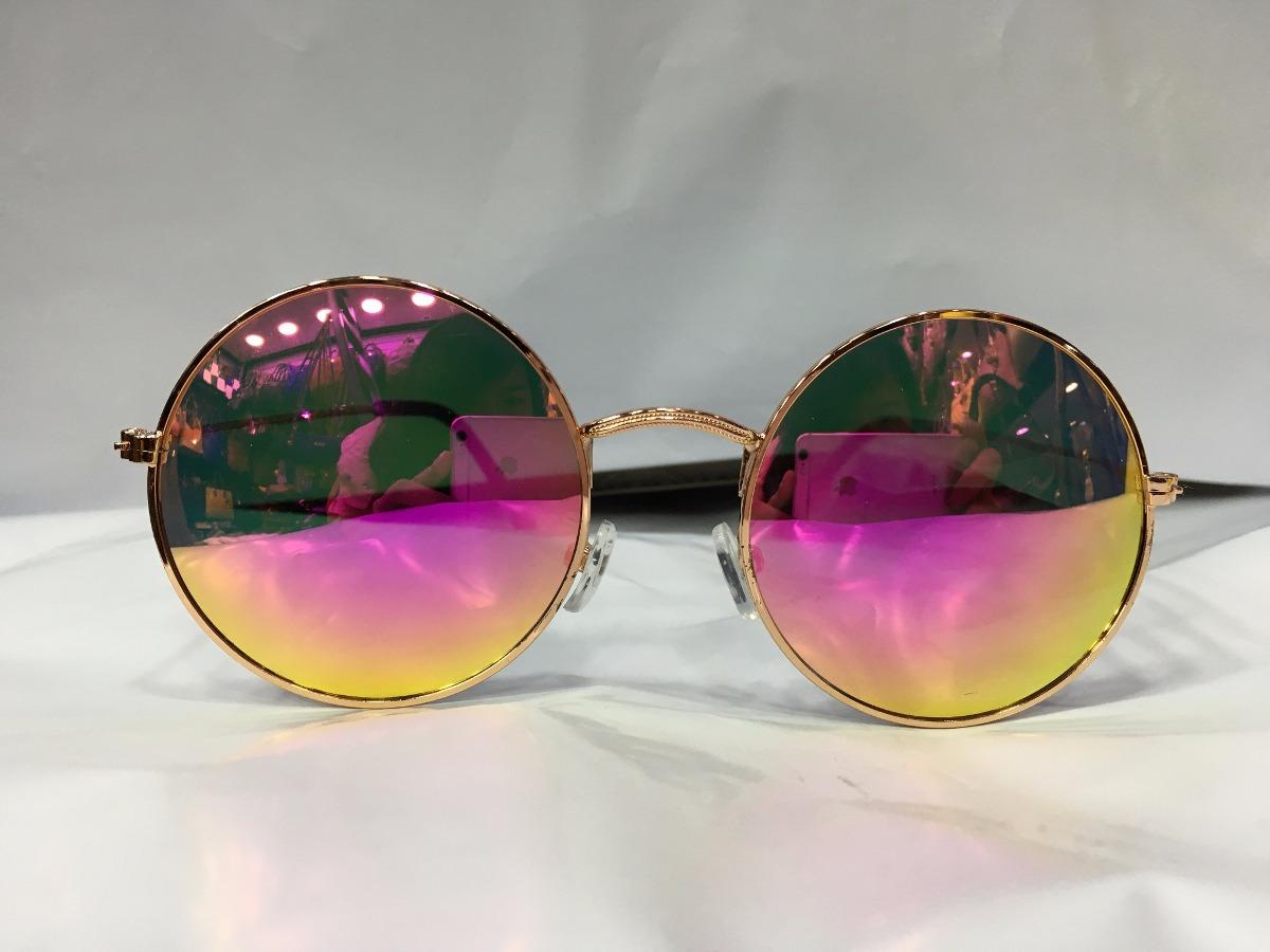 355267bebeaff óculos sol redondo espelhado feminino unissex proteção uv400. Carregando  zoom.