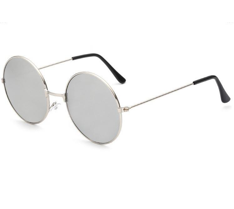 6d4b3d1e083f9 Óculos Sol Redondo Prata Ozzy John Lennon Masculino Feminino - R  35 ...