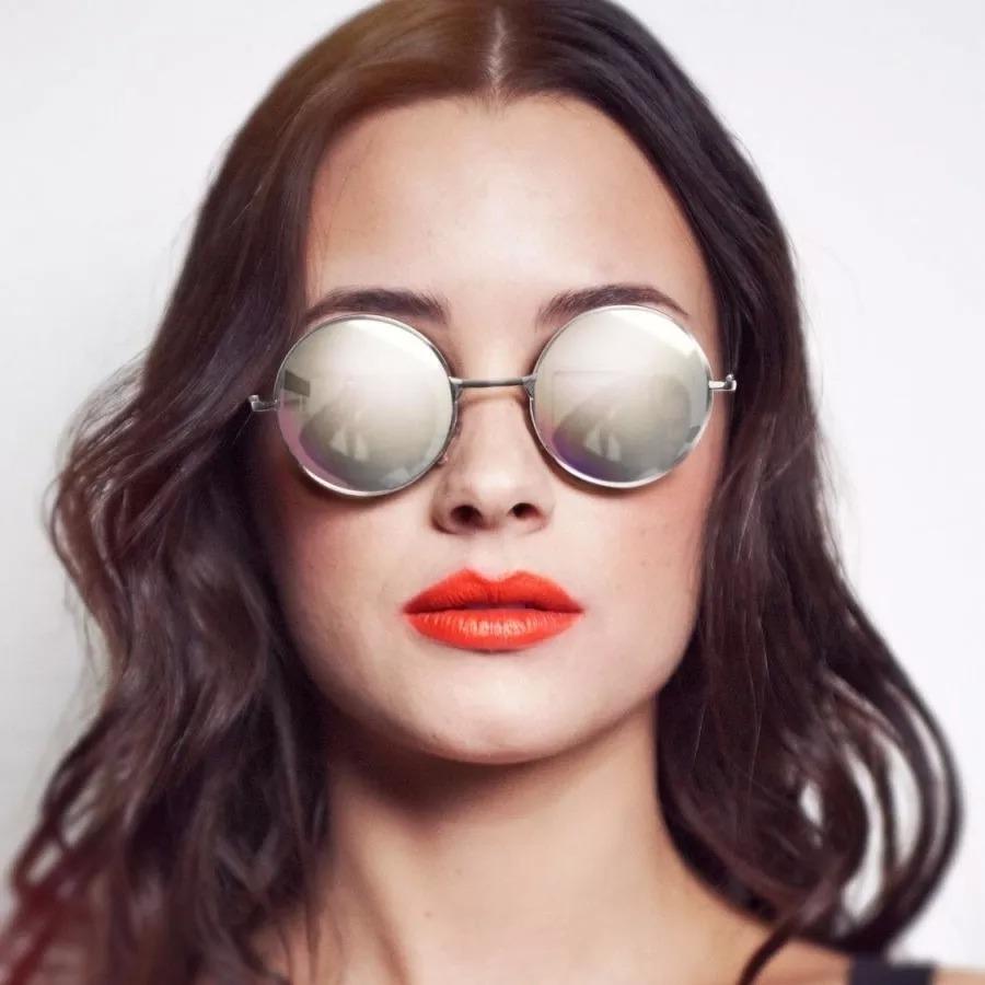 óculos sol redondo prata ozzy john lennon masculino feminino. Carregando  zoom. 1f16cfc9b2