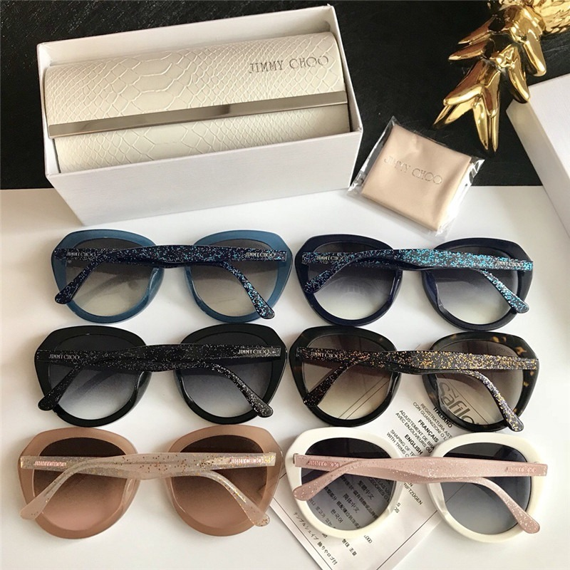488ec1a3b1c30 Óculos De Sol Jimmy Choo Mace Round Lançamento Glitter - R  499