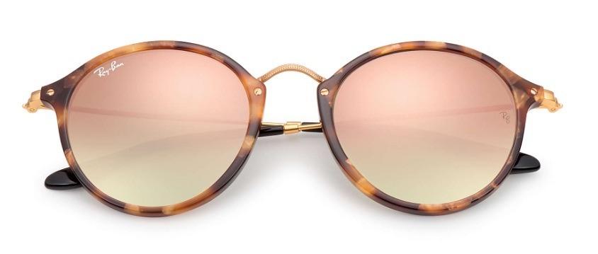 62e25fcec8676 óculos sol rayban rb2447 1160 7o round fleck marrom tartarug. Carregando  zoom... óculos sol round. Carregando zoom.