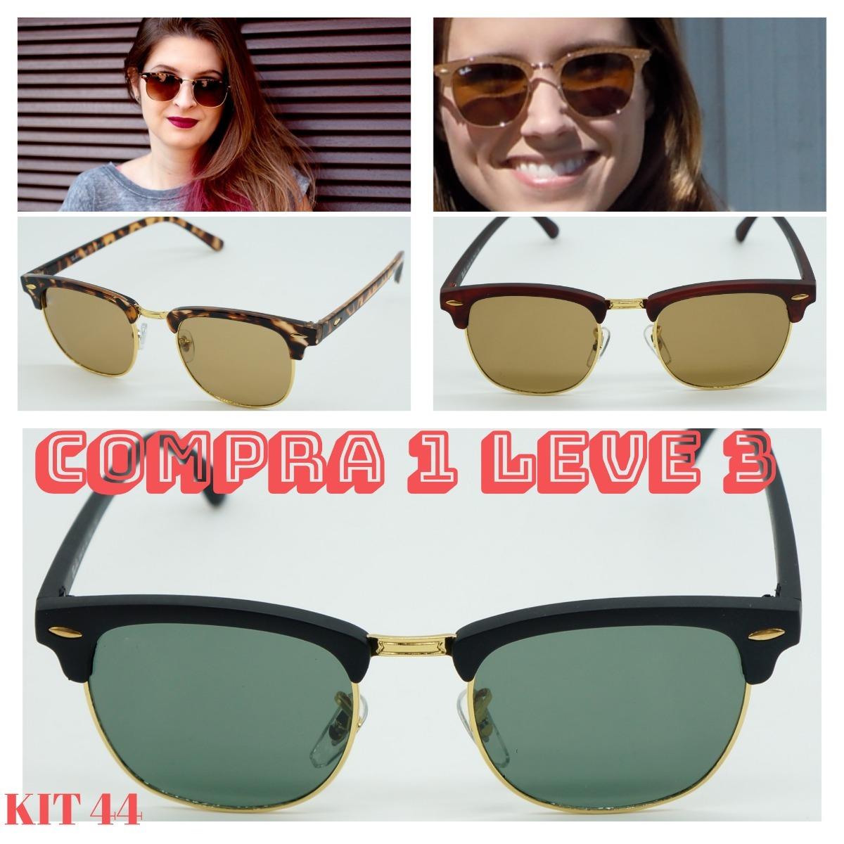 6b3eb0397018c Óculos Sol Round Erica Erika Rose Rosa Preto Cristal Promoça - R  120,00 em  Mercado Livre