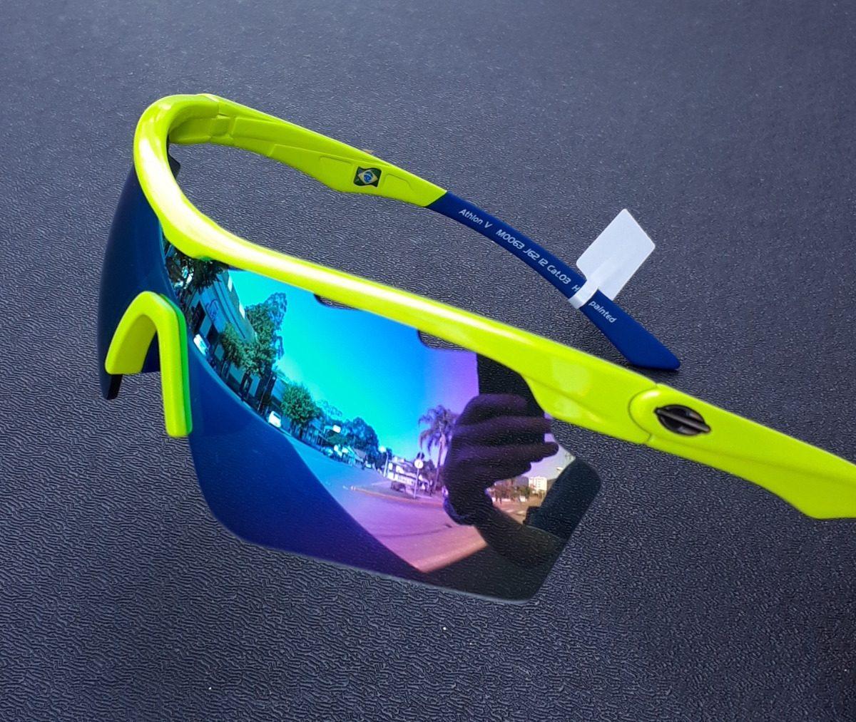 200691c86d275 óculos sol solar mormaii athlon 5 amarelo azul ciclismo v 4. Carregando  zoom.