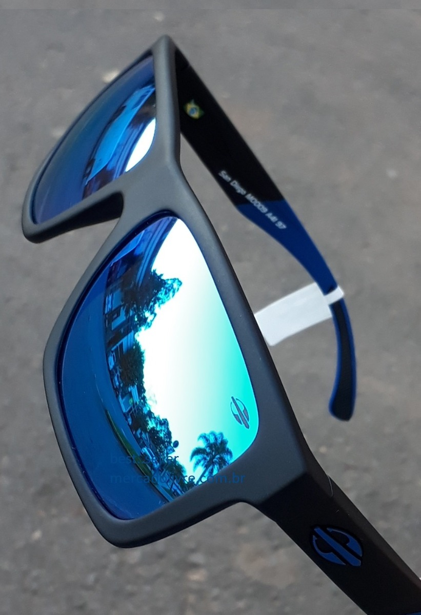 f925780029750 óculos sol solar mormaii san diego preto azul espelhado. Carregando zoom.