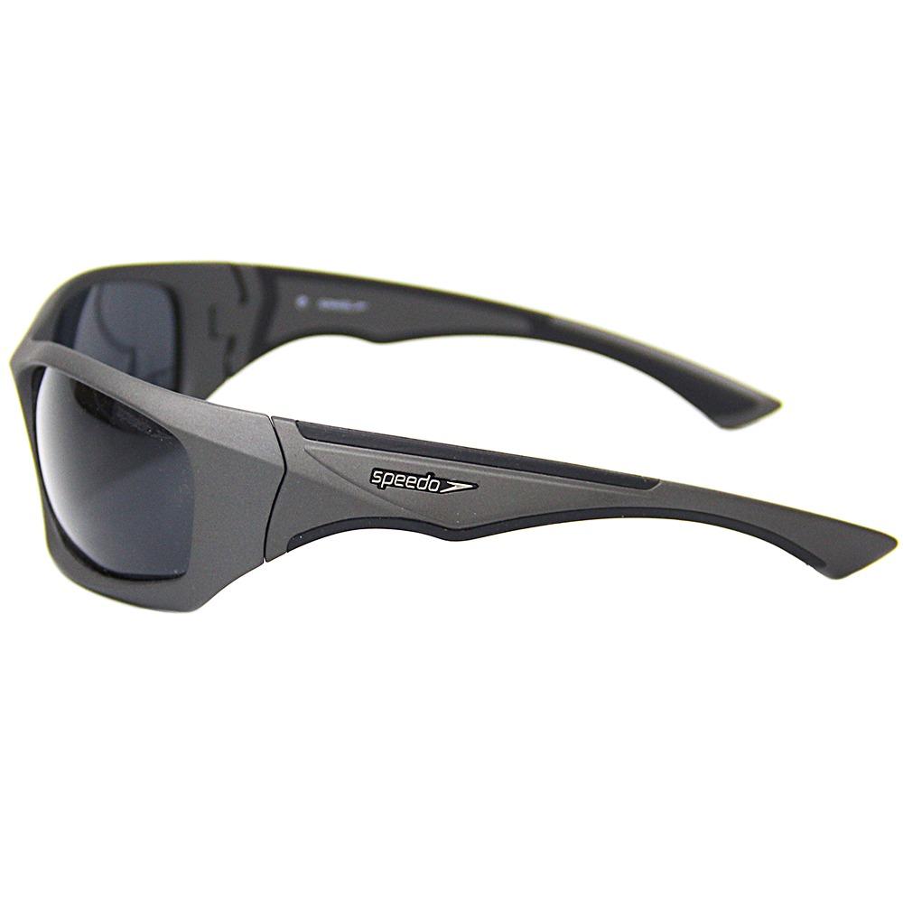 14678a84b4035 Óculos Sol Speedo Wave Cinza Polarizado - R  178,90 em Mercado Livre