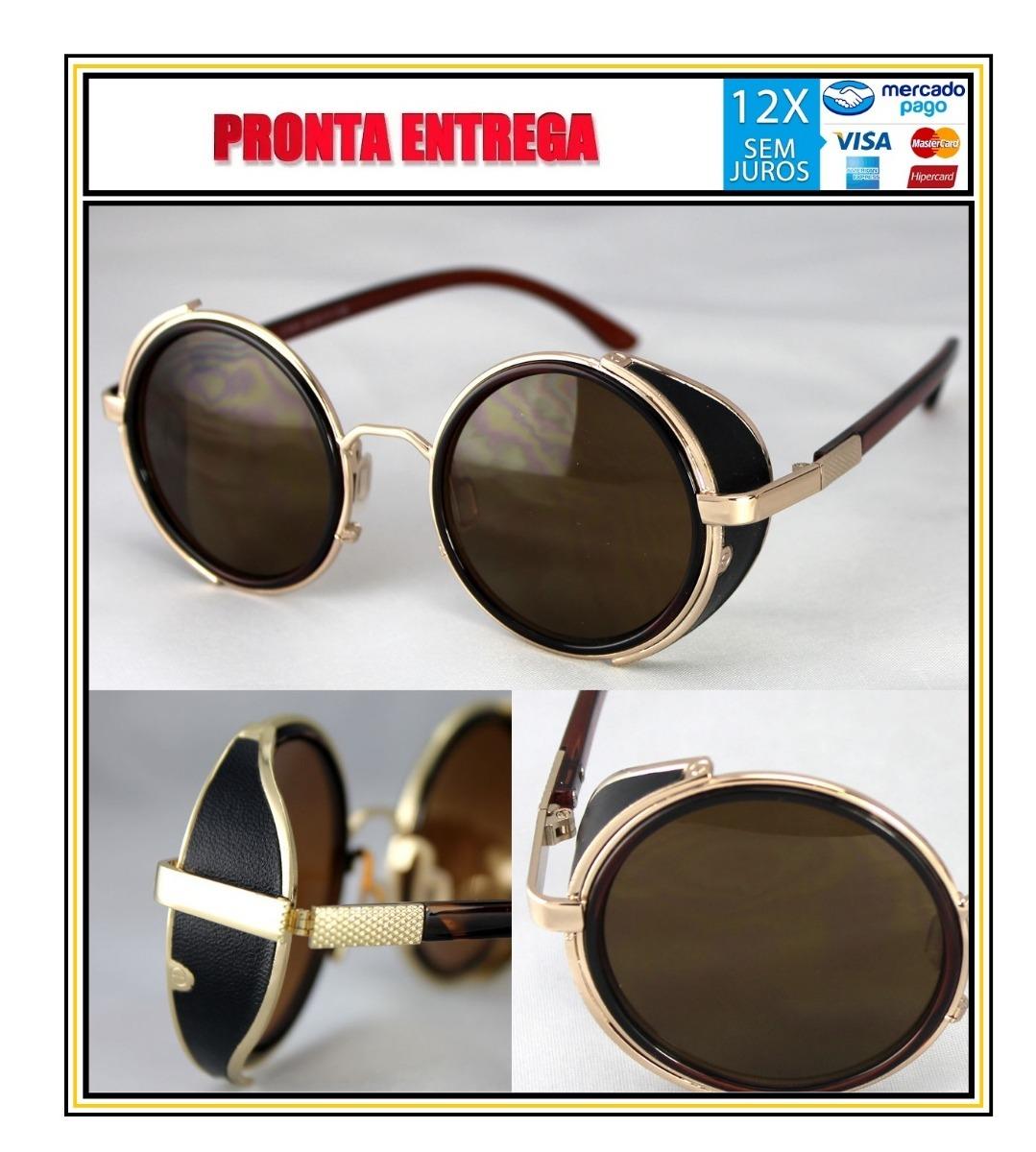 óculos sol steampunk redondo vintage retrô masculinofeminino. Carregando  zoom. 50c7aa1519