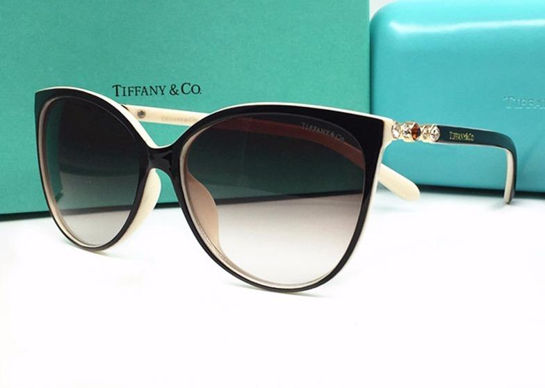 9dd2a4aa68e7d Oculos De Sol Tiffany   Co Tf 4122b Forma Gatinho Moda 2018 - R  359 ...