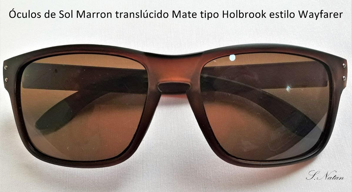Óculos Sol Tipo Holbrook Lentes E Armação Mate Marrons Lindo - R  30 ... 5c719e5928