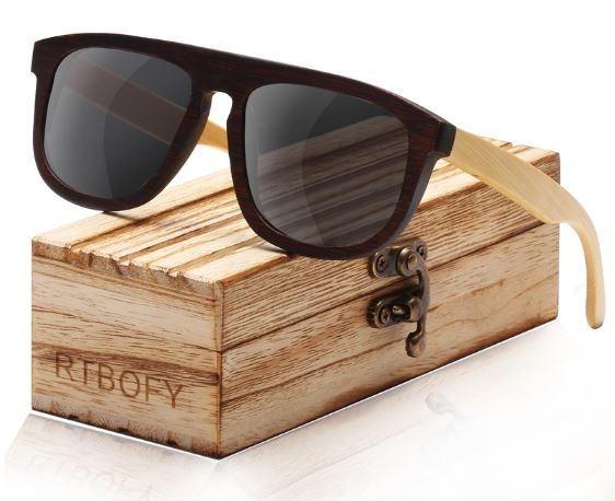 290436246d1ed Óculos Sol Todo Em Madeira Lente Polarizada Brinde Estojo - R  121,50 em  Mercado Livre