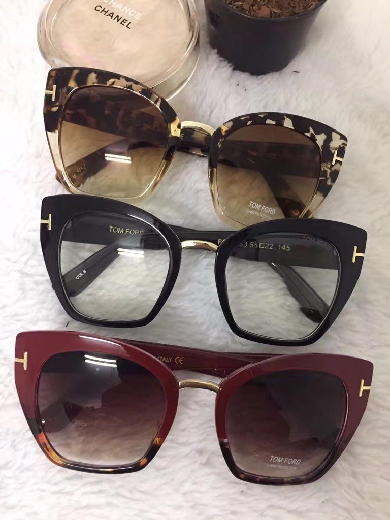 d4b9243f7aadd Óculos De Sol Gatinho Feminino Grande Tom Ford Frete +brinde - R ...