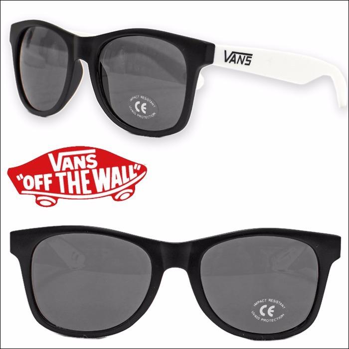 cc459a3d5d810 Óculos Sol Vans Pretobranco 100%policarbonato Original N Y C - R ...