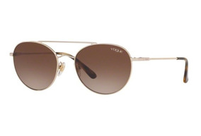 a1a6fbba8 Oculos Sol Vogue Vo4129s 848/13 53 Dourado L Marrom Degradê