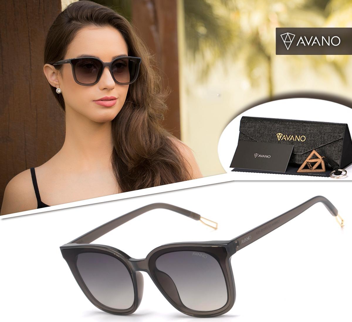 770151daed4b6 Oculos Solar Avano Feminino Av 308-c Proteção Uv400 Original - R  70 ...