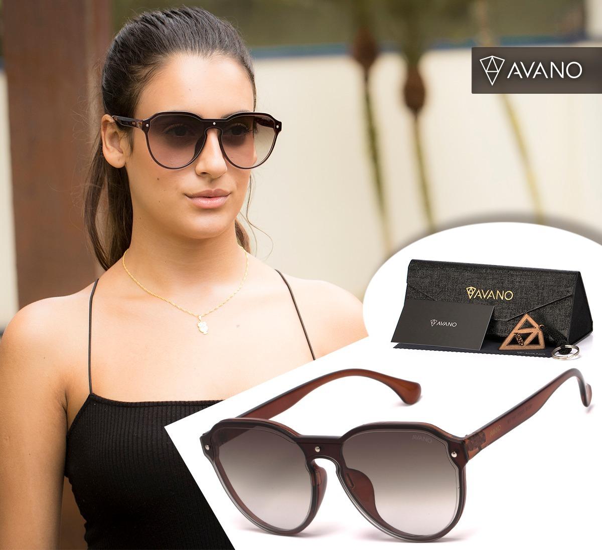 efc5ea661eb83 Oculos Solar Avano Feminino Av 418-c Proteção Uv400 + Brinde - R  80 ...
