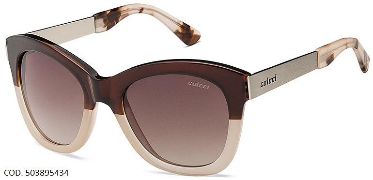 d8a5c86943894 Oculos Solar Colcci Jolie Cod. 503895434 Marrom - R  199