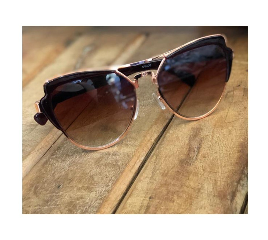 38f393777 óculos solar espelhado rose gold feminino gatinho dourado. Carregando zoom.