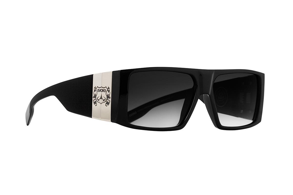 ef6c8de9012a5 Oculos Solar Evoke Bomber A02 Black Shine Gray Gradient - R  569,00 em Mercado  Livre