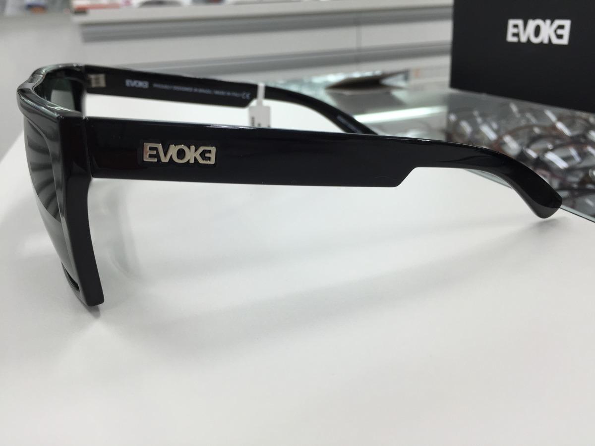 5360cfd8d2ed5 oculos solar evoke evk 15 preto brilho com lente verde escur. Carregando  zoom.