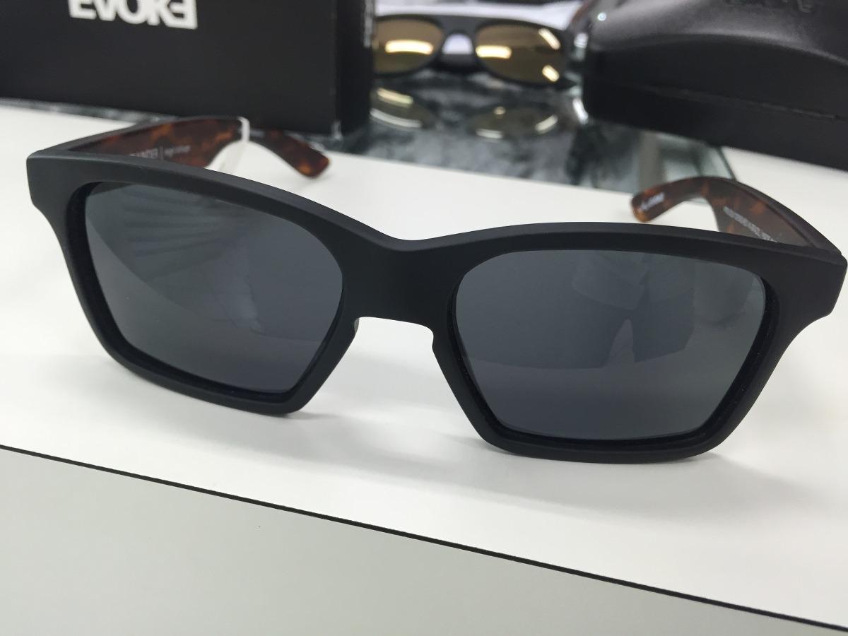 61d463482 Oculos Solar Evoke Thunder Preto Fosco Lente Cinza Escura - R$ 439,99 em  Mercado Livre