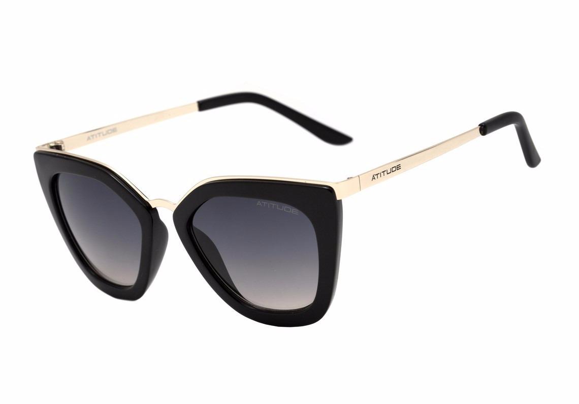 f0a5877db Óculos Solar Feminino Atitude - R$ 279,00 em Mercado Livre