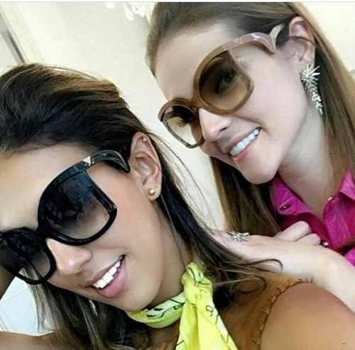 61838960618e7 Óculos Solar Feminino Moda Atual Modelo Grande Degradê - R  61