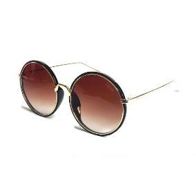 20fb2e4e4505c Óculos Solar Feminino Redondo Grande Degradê - R  89