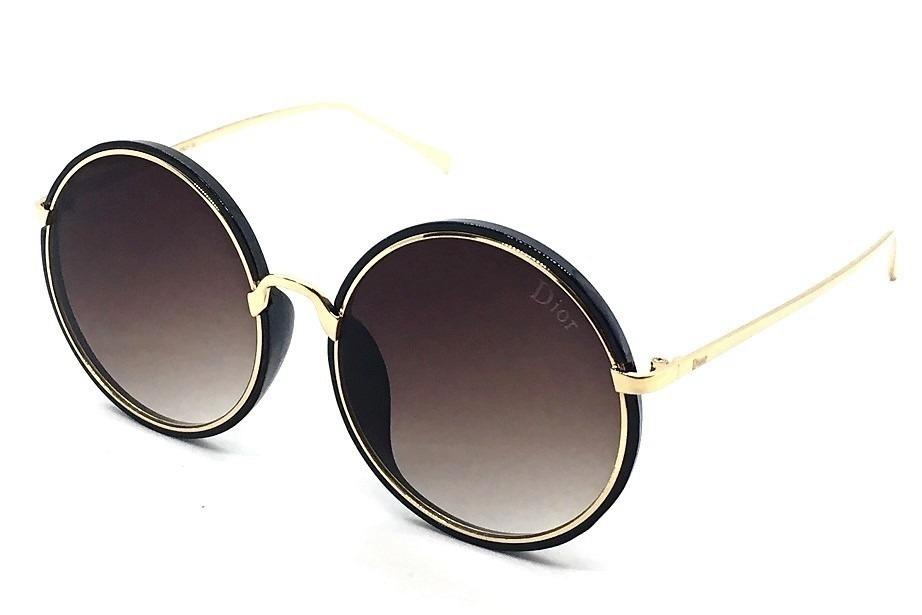 97310c3f18c9c óculos solar feminino redondo grande degradê. 4 Fotos