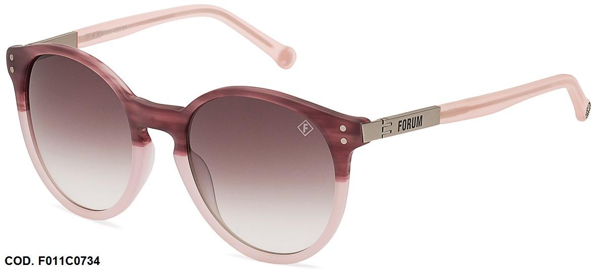 daf0ad1e9 Oculos Solar Forum F0011 Cod. F0011c0734 Rosa Claro - R$ 129,00 em ...
