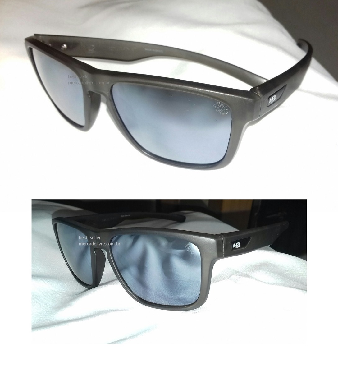 Óculos Solar Hb H-bomb Hbomb Espelhado Onix Cinza Prata - R  219,00 ... 5d12987897