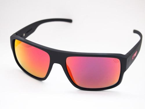 óculos solar hb redback matte black d red original nfe