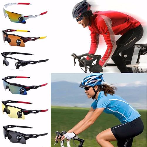 óculos solar + luva meio dedo ciclismo bike ciclista oferta
