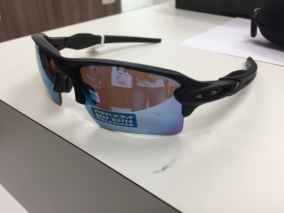 oculos solar oakley flak 2.0 xl prizm deep water polarized. Carregando zoom. d37bf0c8de