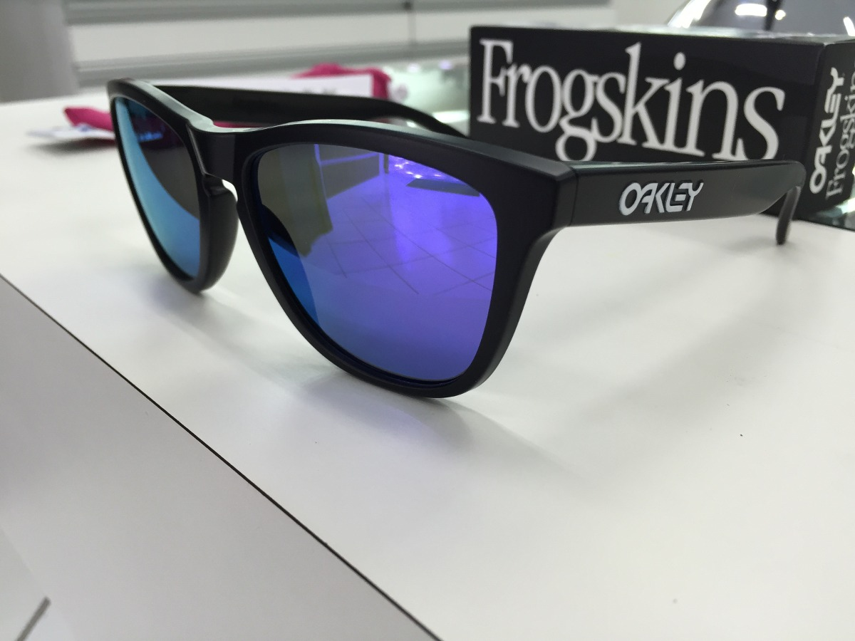 Oculos Solar Oakley Frogskins 24-298 Matte Blk W violet Irid - R ... 54cdb9391e