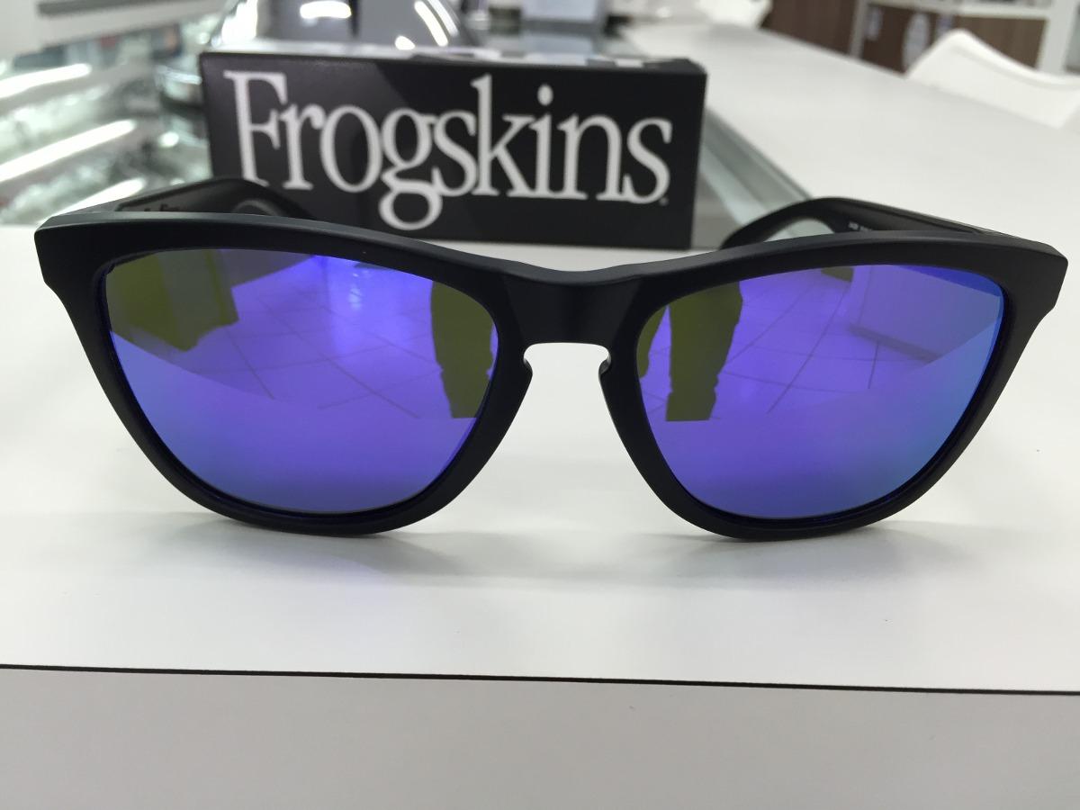 252cd0ea7 oculos solar oakley frogskins 24-298 matte blk w/violet irid. Carregando  zoom.