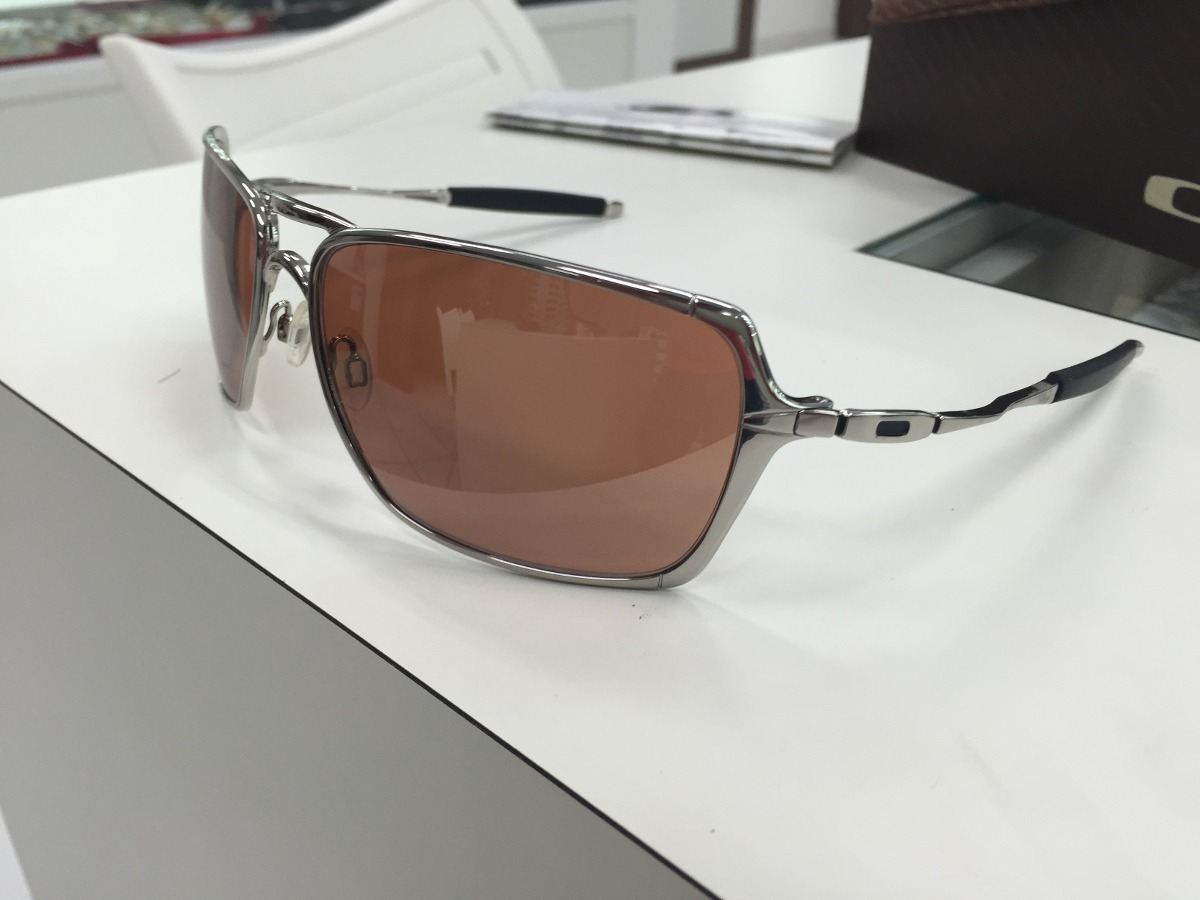 oculos solar oakley inmate 05-631 polished chrome original. Carregando zoom. 15c281155f