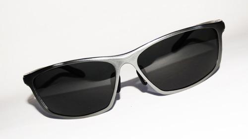óculos solar polarizado 400uv alumínio armação chumbo style