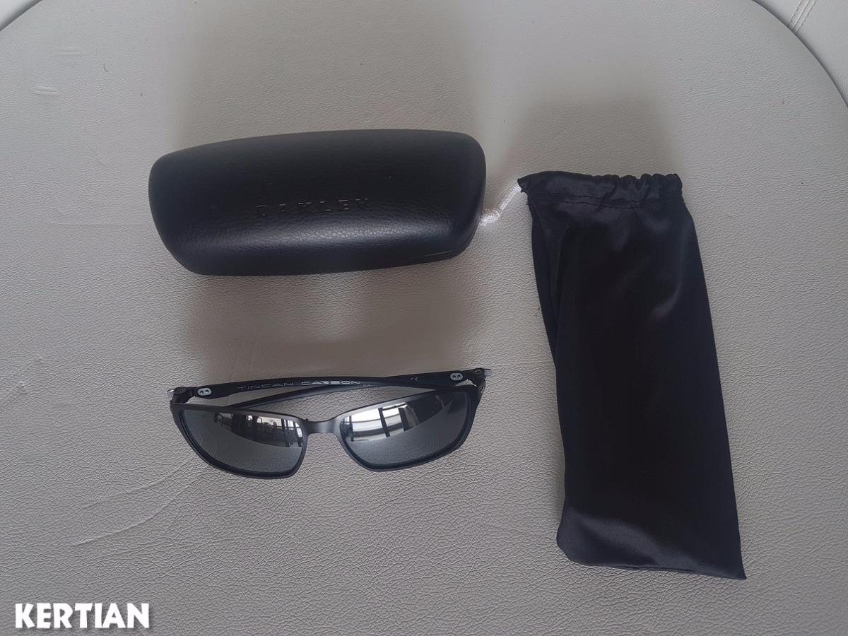 Oculos Solar Polarizado Oakley Tincan Carbon Original - R  550,00 em ... a9b6db1c80