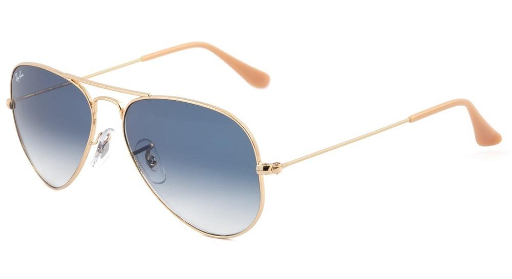 913c878ab8dde óculos solar ray ban aviador rb 3025 001 3f azul - original. Carregando zoom .