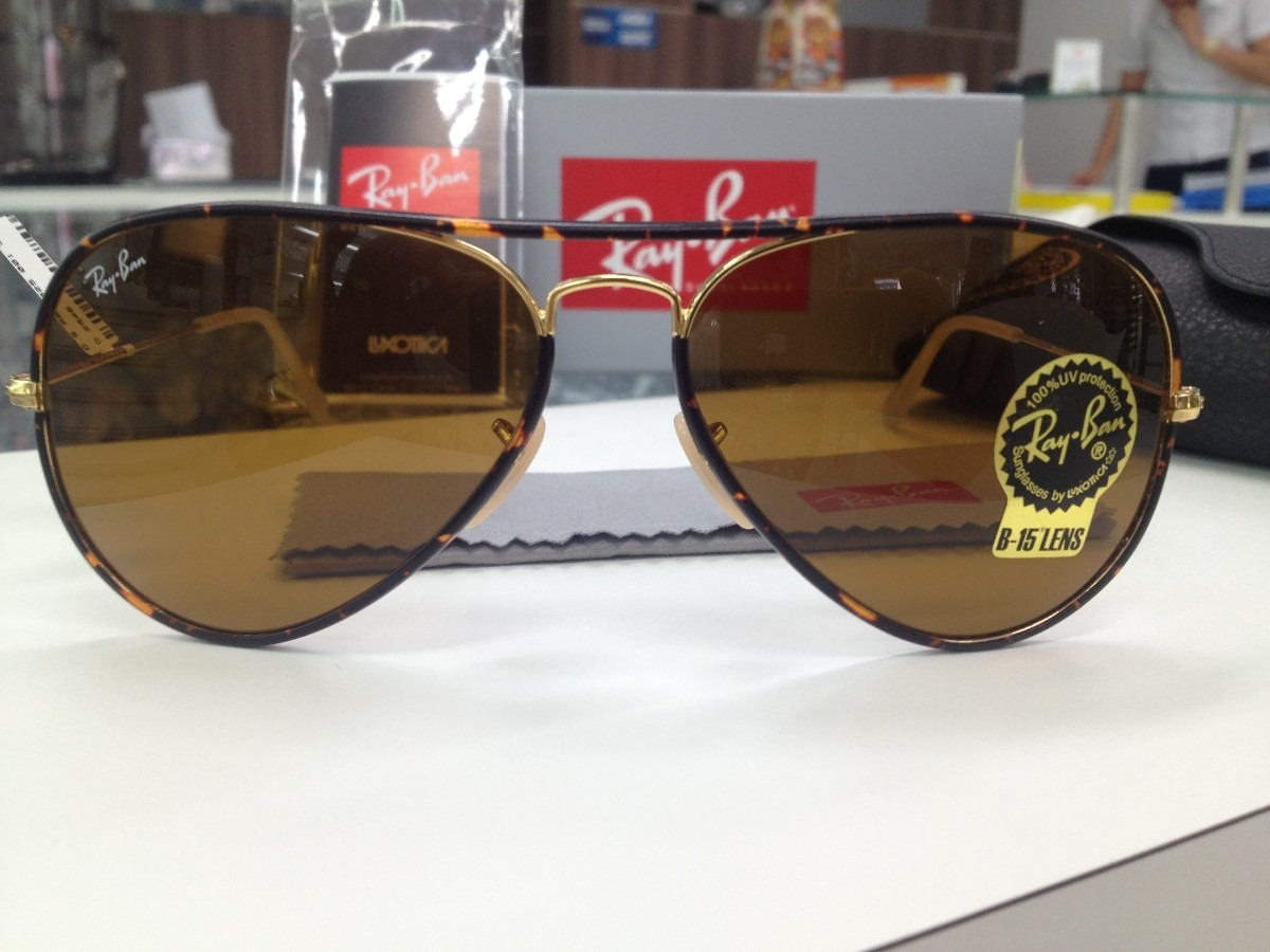 8ba2b9b13c174 Oculos Solar Ray Ban Rb 3025 -j-m Aviator Full Color - R  459