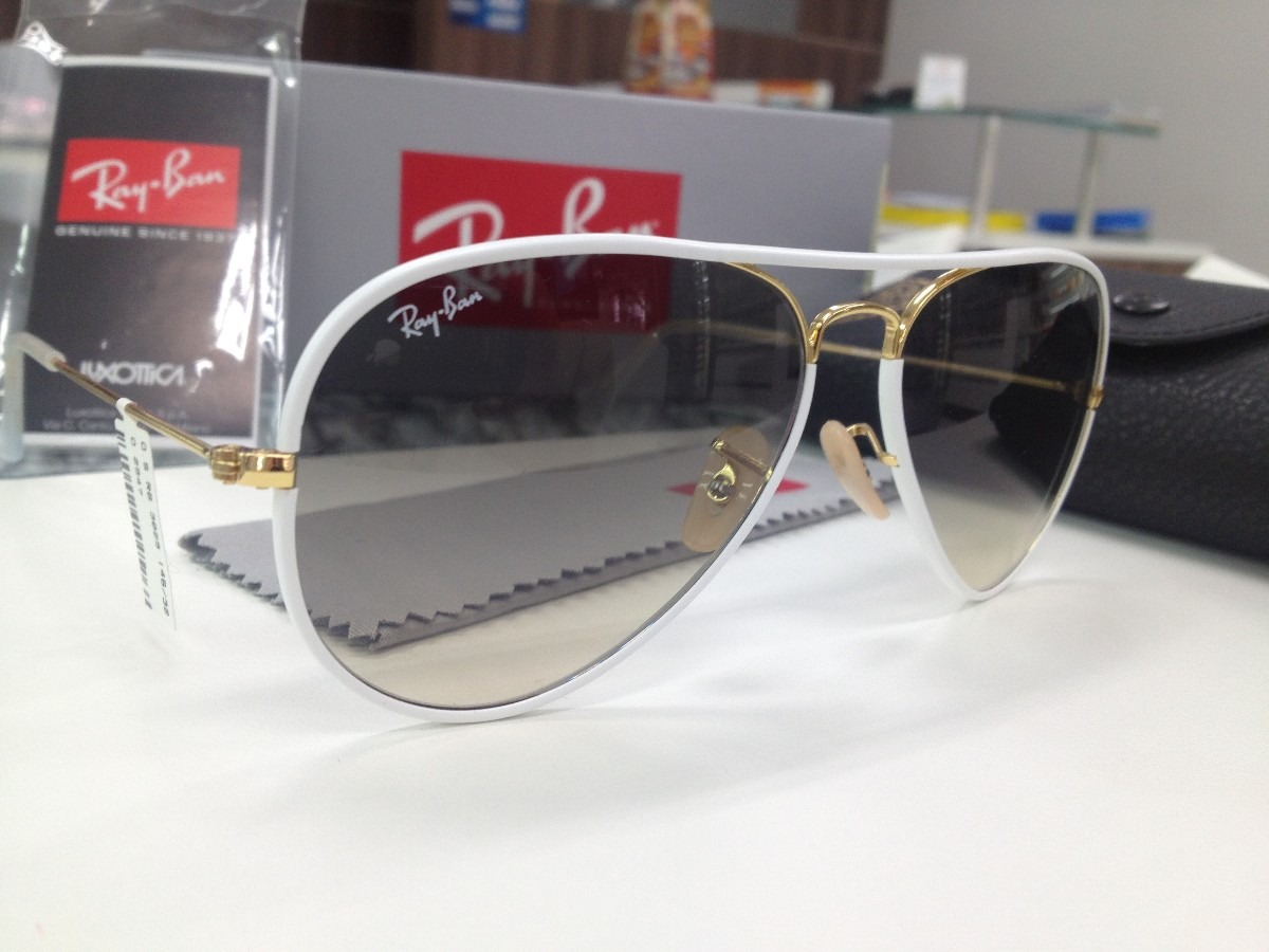 Oculos Solar Ray Ban Rb 3025 -j-m Aviator Full Color - R  449,99 em ... 33b1af1eb2