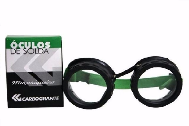 d3ade83a1920d Óculos Soldador Maçarico + Lente Ton6 Carbografite - R  25,90 em Mercado  Livre
