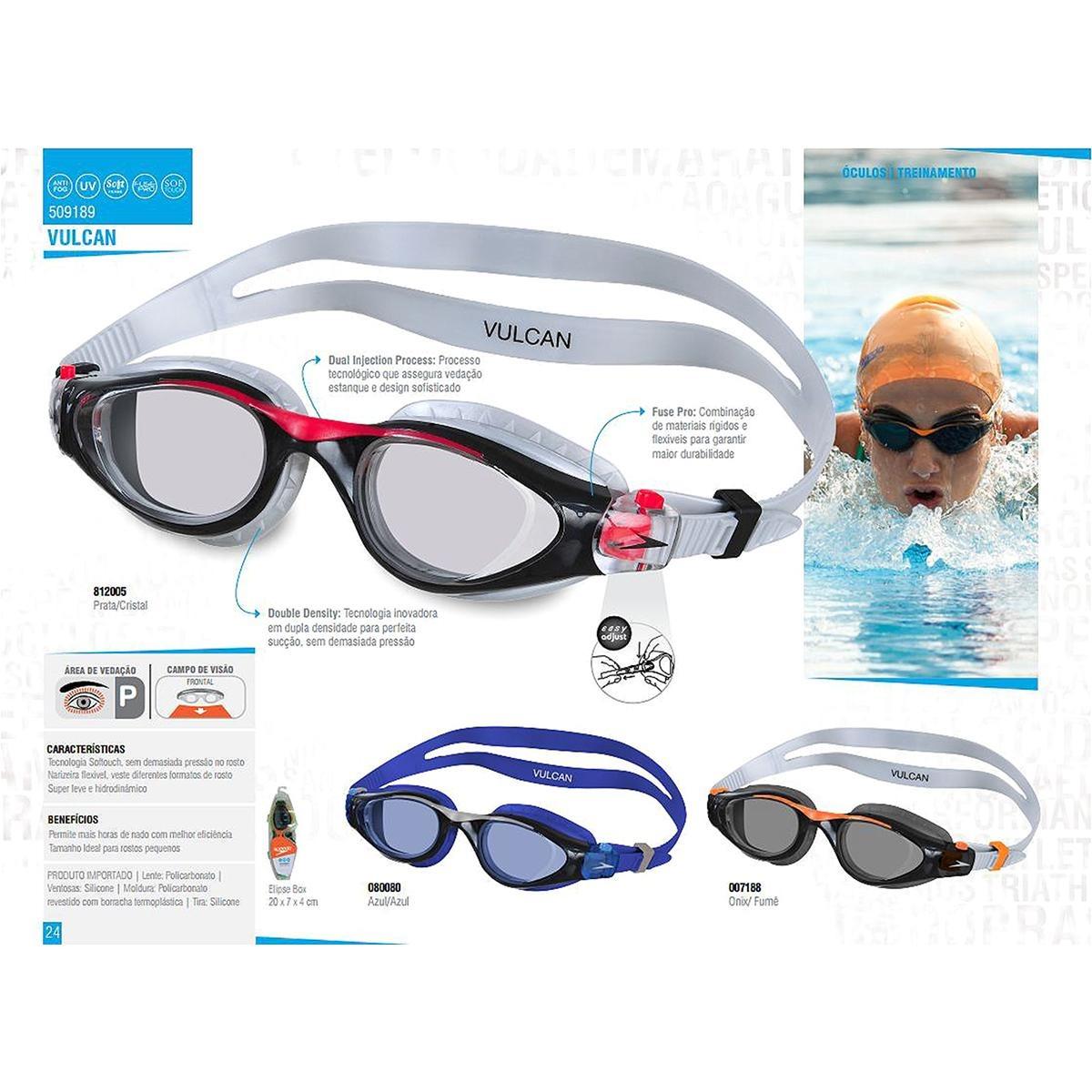 54c8aa123 óculos speedo vulcan - cor azul+preto. Carregando zoom.