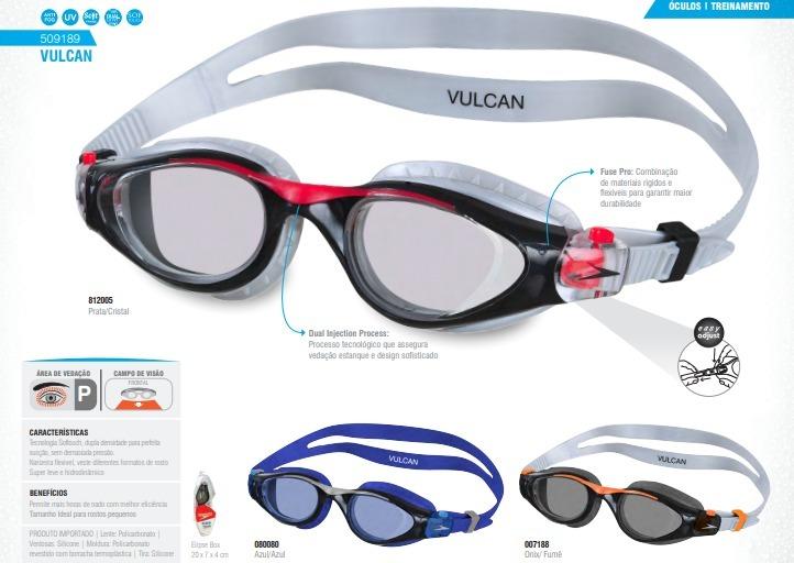 b3af652d4 Óculos Speedo Vulcan Natação - R  79