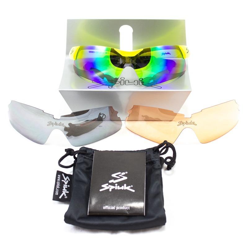3023b8f83 óculos spiuk mamba lente verde espelhada armação amarela/pre. Carregando  zoom.