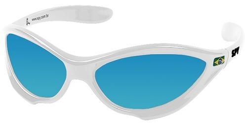 Oculos Spy 45 Twist Armação Branca Lente Azul Ref 070 - R  199,90 em ... 8dcd651246