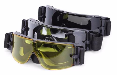 Óculos Tático De Proteção Airsoft X800 Original 3 Lentes - R  160,35 ... 8187478667
